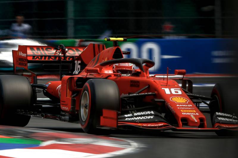 Charles Leclerc during qualifying for the 2019 F1 Mexican Grand Prix
