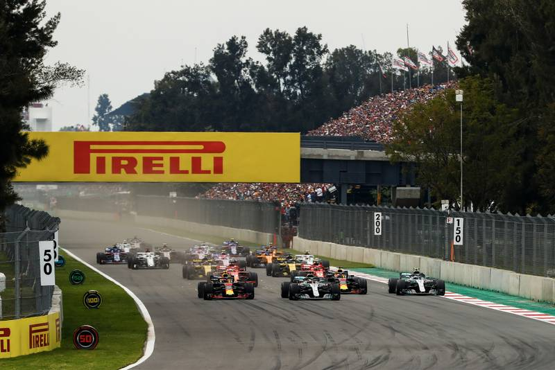The start of the 2018 Mexican Grand Prix