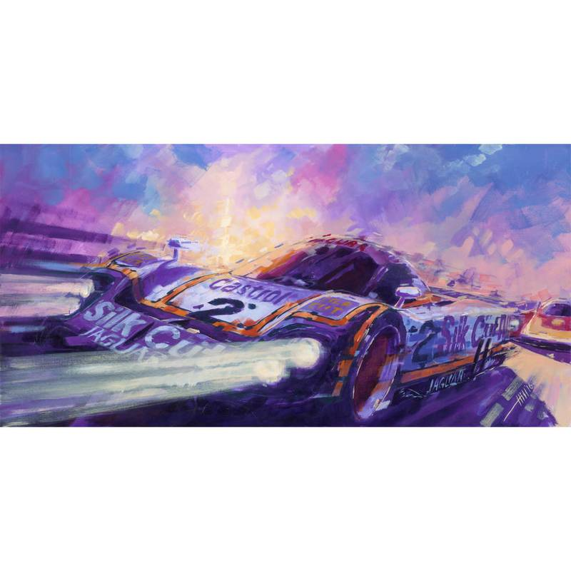 Product image for Jaguar XJR9 - Le Mans - 1988 | Andrew Hill | Limited Edition print
