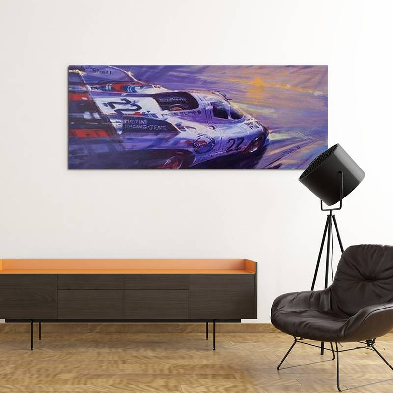 Product image for Martini Porsche 917k - Le Mans - 1971 | Andrew Hill | Limited Edition print