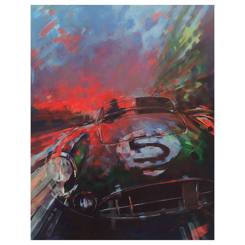 Product image for Aston Martin DBR1/300 - Le Mans - 1959 | Andrew Hill | Limited Edition print