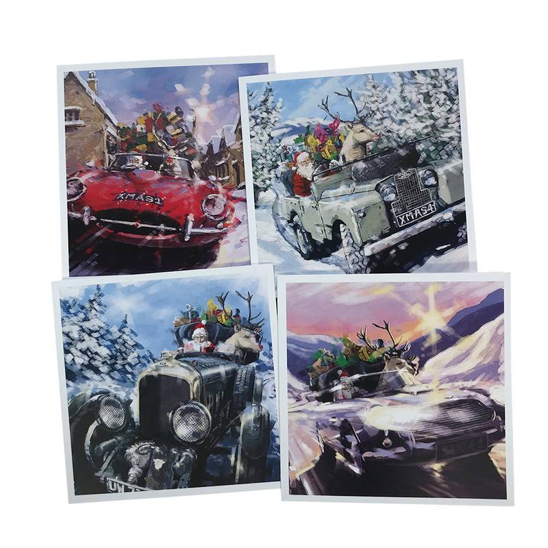 Product image for Best of British' Christmas Cards: 4 Pack