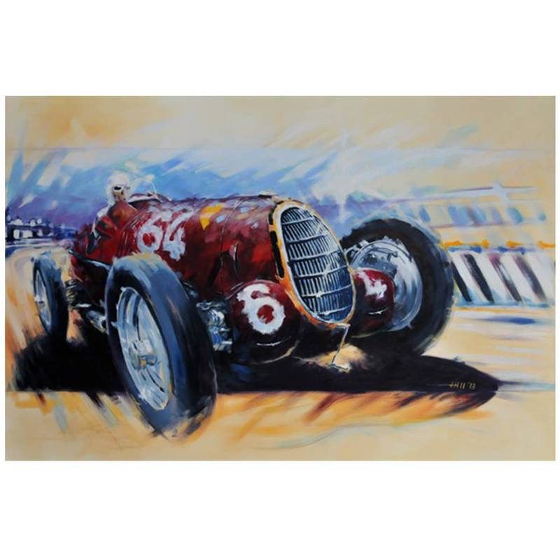 Product image for Alfa Romeo 8C-35 - Coppa Ciano - 1936 | Andrew Hill | Limited Edition print
