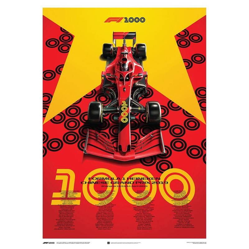 Product image for Formula 1 Heineken Chinese Grand Prix 2019 Poster