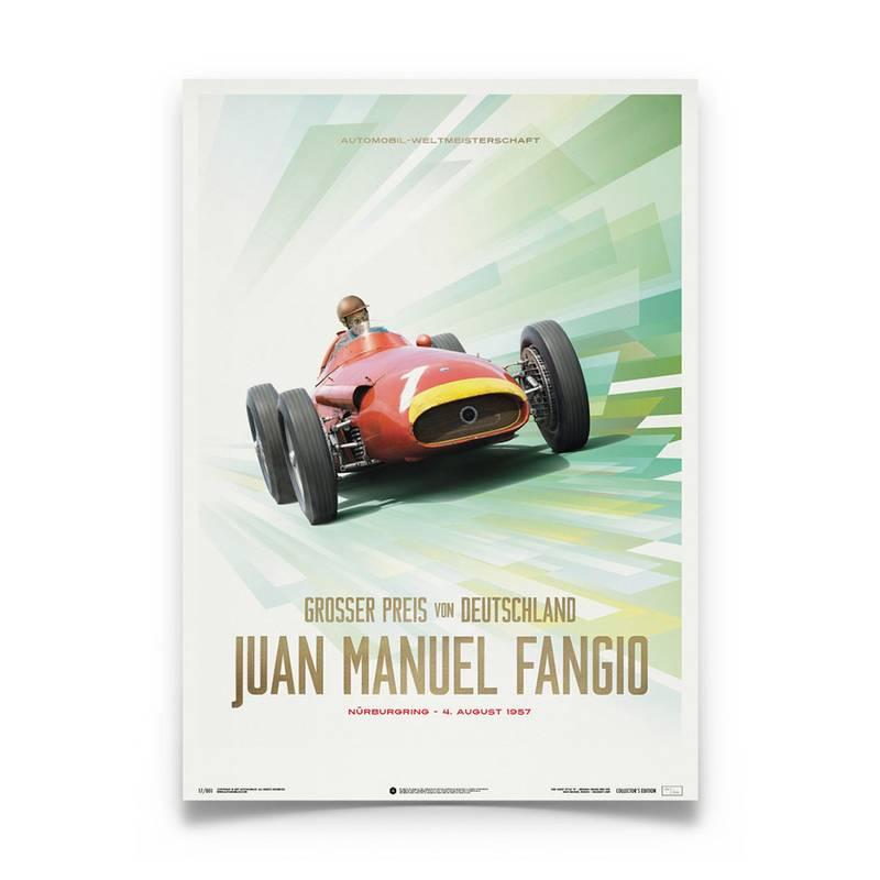 Product image for Juan Manuel Fangio - Maserati 250F - 1957   Automobilist   poster