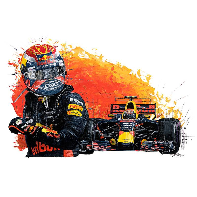 Product image for Max Verstappen – Red Bull Racing – 2017 | David Johnson | Limited Edition print