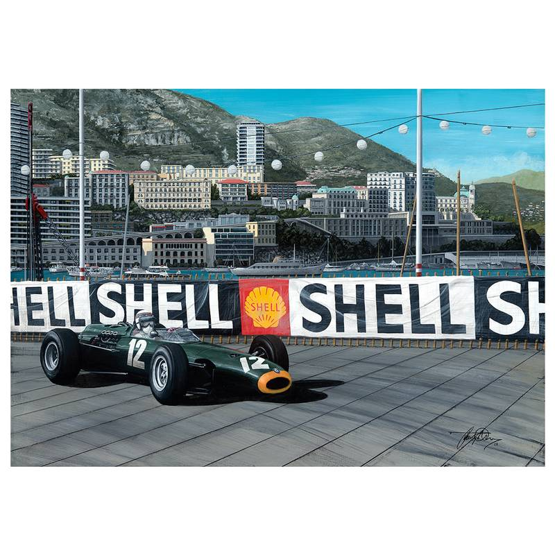 Product image for Jackie Stewart – BRM – 1966 | David Johnson | Limited Edition print