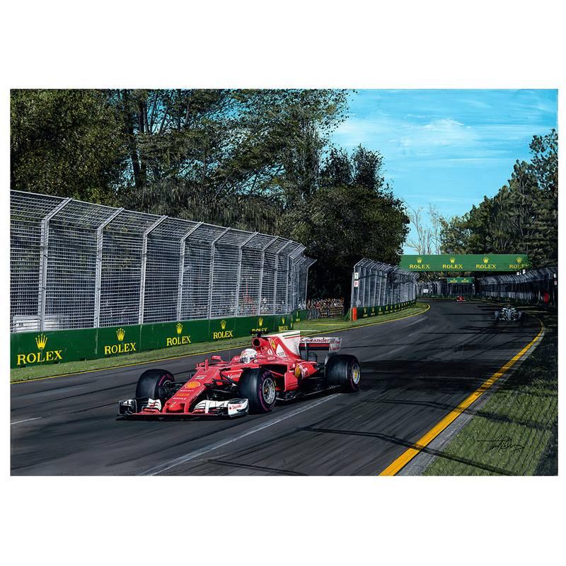 Product image for Sebastian Vettel 2017 Australian Grand Prix Print