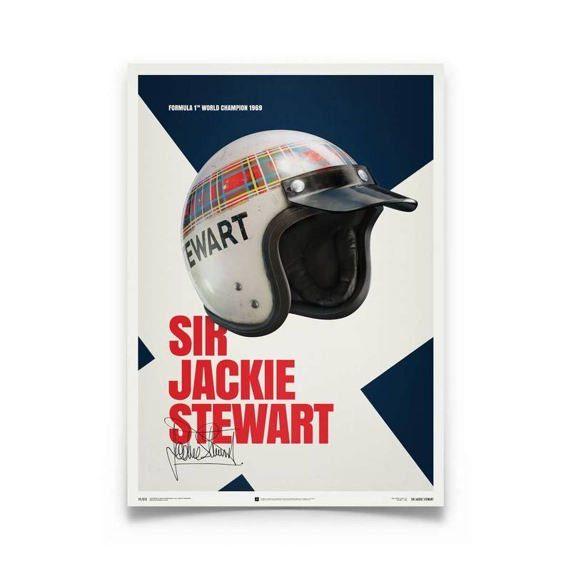 Product image for Jackie Stewart - Helmet - 1969 | Automobilist | poster
