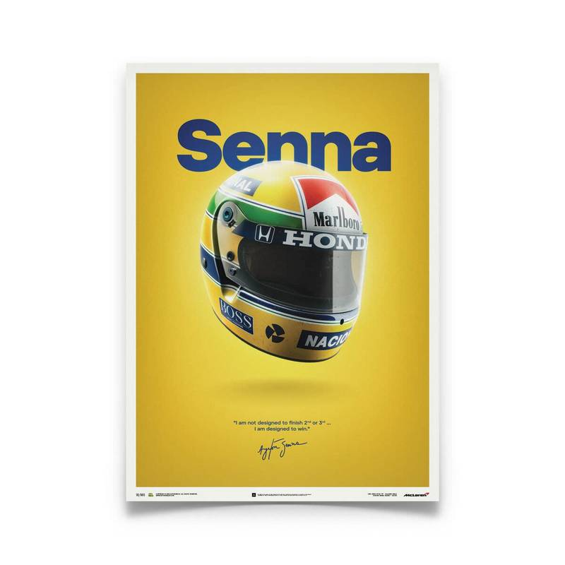 Product image for Ayrton Senna – Helmet – 1988 | Automobilist | poster