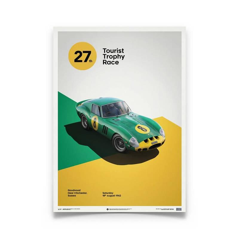 Product image for Ferrari 250 GTO - Green - 1962 Goodwood TT | Automobilist | Limited Edition print