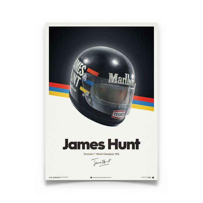 Product image for James Hunt Helmet 1976 Poster