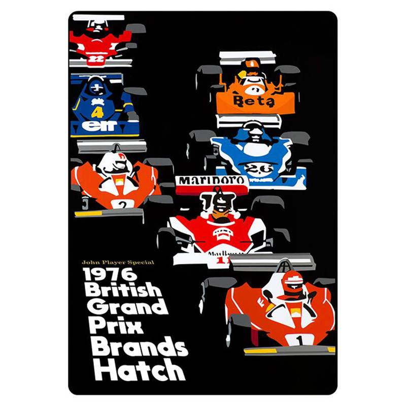 Product image for Niki Lauda – James Hunt – 1976 British Grand Prix | Joel Clark | contemporary poster