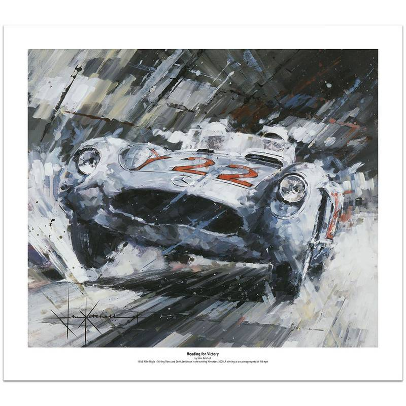 Product image for Heading For Victory | Stirling Moss - Mercedes 300 SLR - 1955 | Limited Edition print