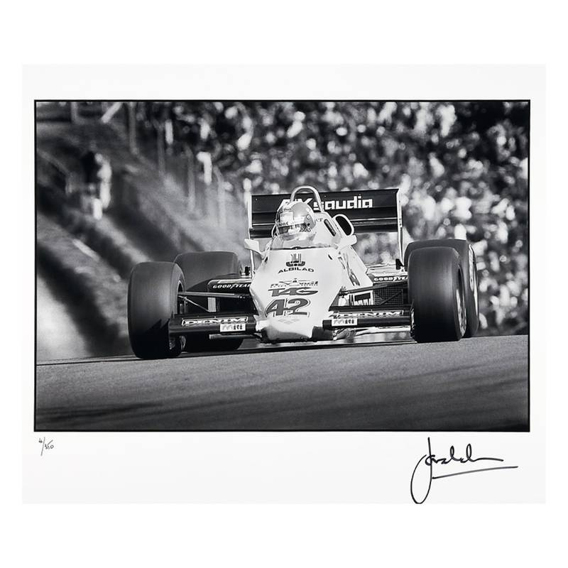 Product image for Jonathan Palmer – Williams FWO8C – 1983   signed Steve Theodorou   Limited Edition print