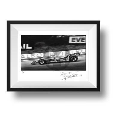 Product image for Jody Scheckter - Ferrari – 1980 | signed Steve Theodorou | Limited Edition print