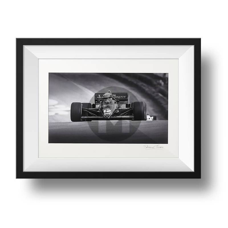 Product image for Ayrton Senna - Lotus - 1985 | signed Steve Theodorou | Limited Edition print
