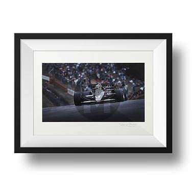 Product image for Ayrton Senna - Lotus - 1986 | signed Steve Theodorou | Limited Edition print