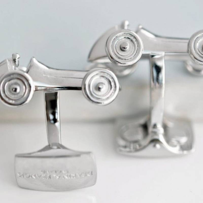 Product image for Vintage Racing Car | Cufflinks | Rhodium