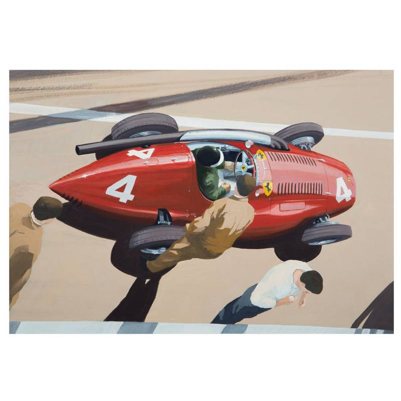 Product image for Mike Hawthorn - Ferrari Squalo - 1955 | signed by artist | Limited Edition print