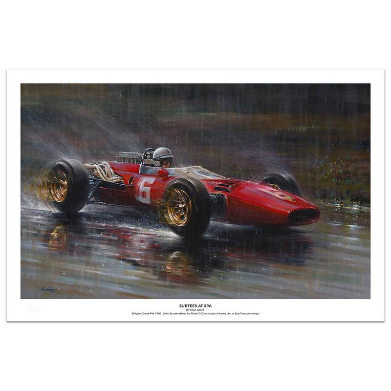 Product image for Ferrari 312 Surtees at Spa: Limited Edition Print