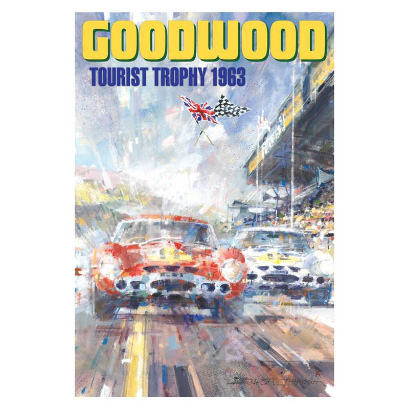 Product image for Goodwood Tourist Trophy | Graham Hill - Ferrari - 1963 | Dexter Brown | Limited Edition print