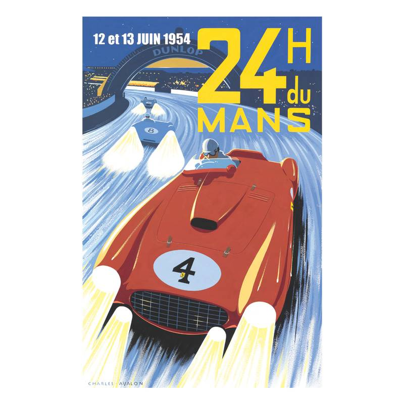 Product image for Froilan Gonzales - Ferrari 375 - Le Mans 1954  | Limited Edition poster