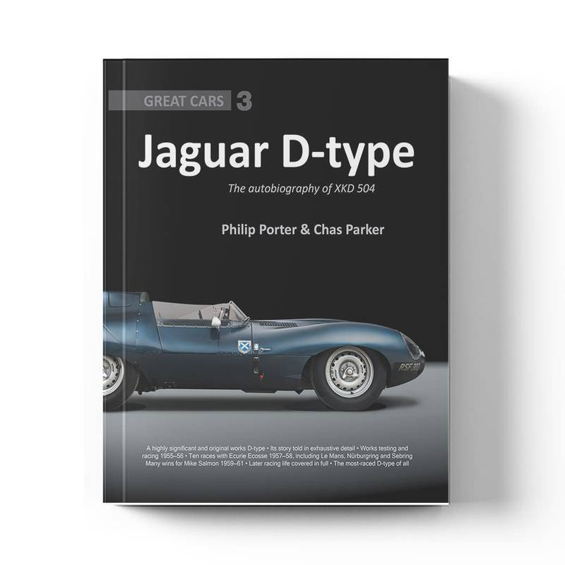 Product image for Jaguar D-type: The autobiography of XKD504   Philip Porter & Chas Parker   Book   Hardback