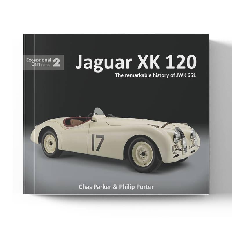 Product image for Jaguar XK 120: The Remarkable History of JWK 651   Chris Parker & Philip Porter   Book   Hardback