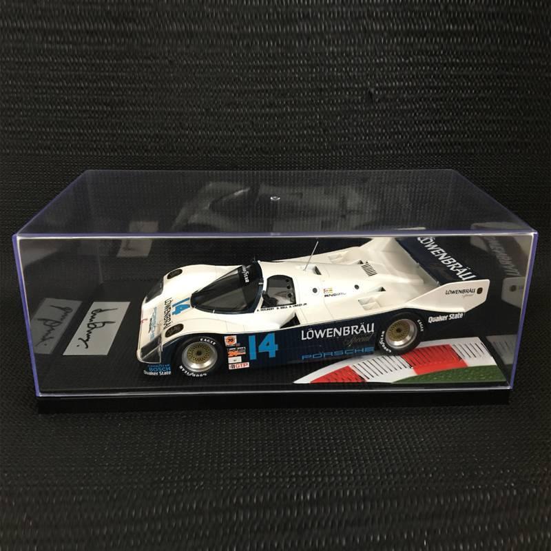Product image for 1:18 Löwenbräu Porsche 962 IMSA , 1986 Daytona 24 winner: Signed Derek Bell