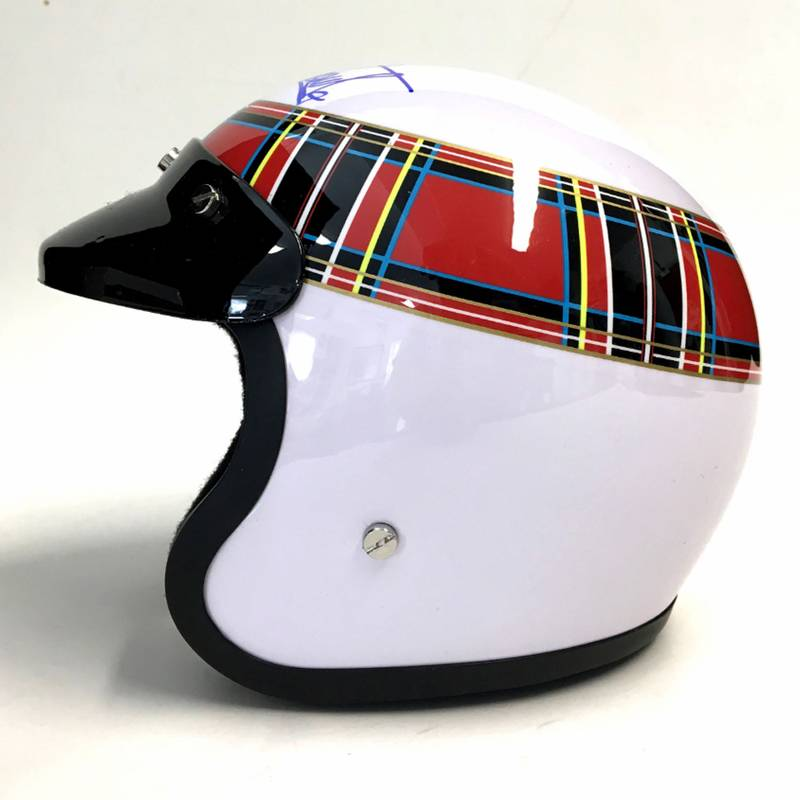 Product image for Sir Jackie Stewart 1/2 scale helmet: Signed