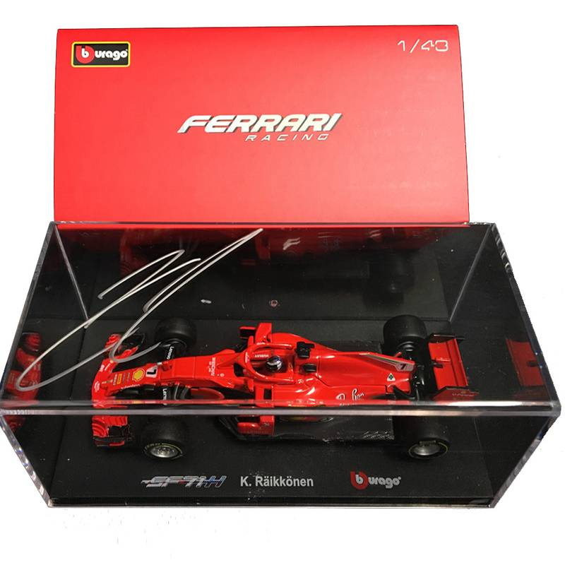 Product image for 1/43 Ferrari SF71H Ferrari Collectors Edition: Signed Kimi Räikkönen