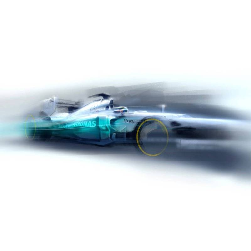Product image for 2012 F1 Car Goodwood Festival of Speed Print