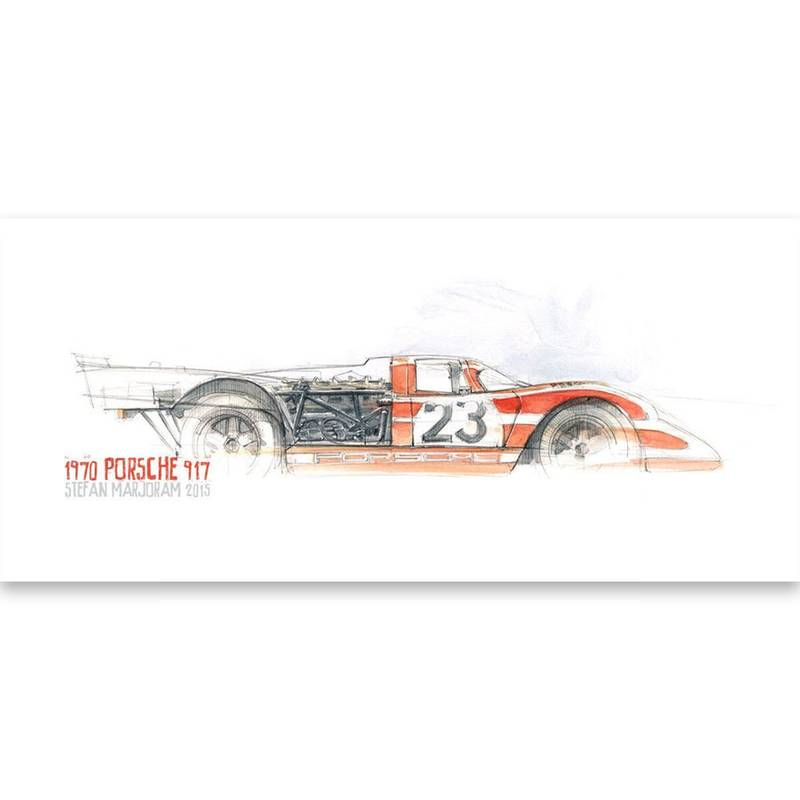 Product image for Porsche 917 A5 Greeting Card