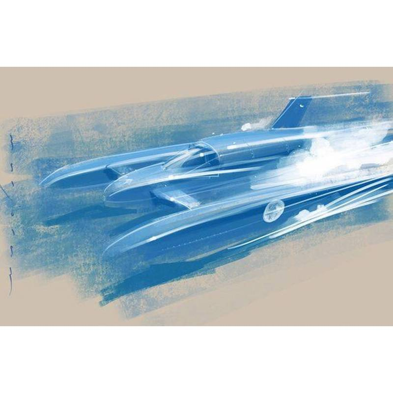 Product image for Donald Campbell Bluebird K7 - Stefan Marjoram A5 Greeting Card
