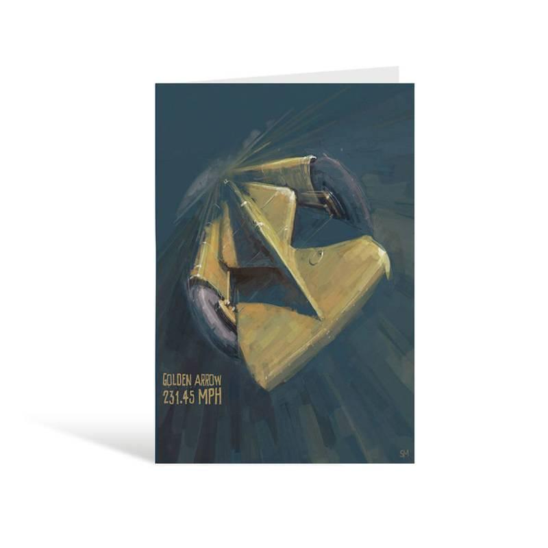 Product image for Golden Arrow Henry Seagrave - Stefan Marjoram Greeting Card