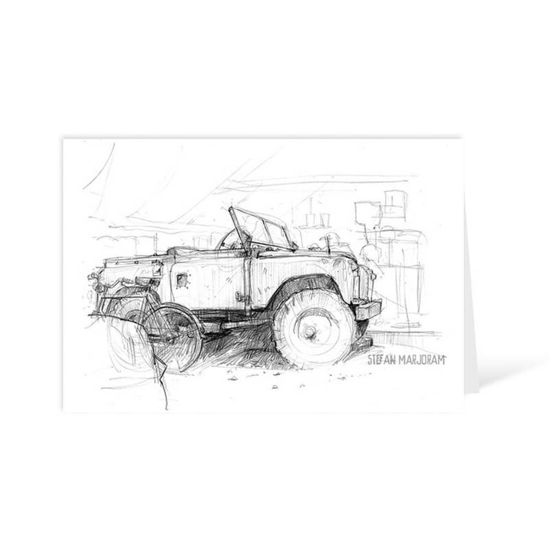 Product image for Land Rover Greeting Card