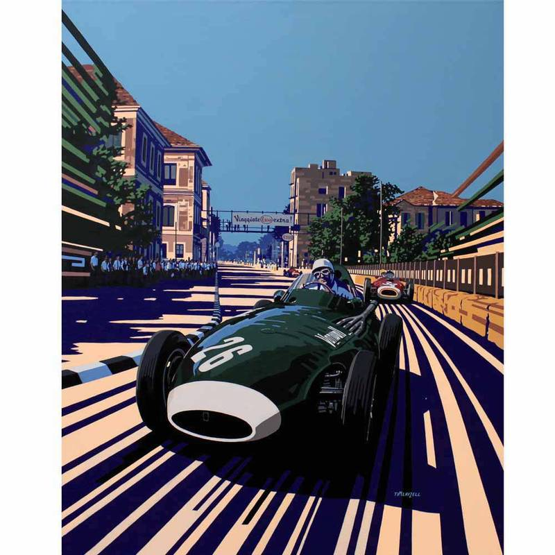 Product image for Stirling Moss's Pescara Grand Prix Risky Business Print