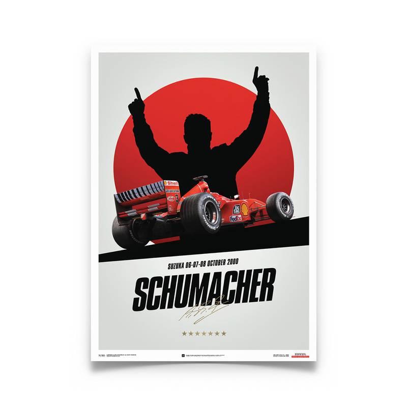 Product image for Michael Schumacher – Ferrari F1-2000 – Suzuka | Automobilist | poster