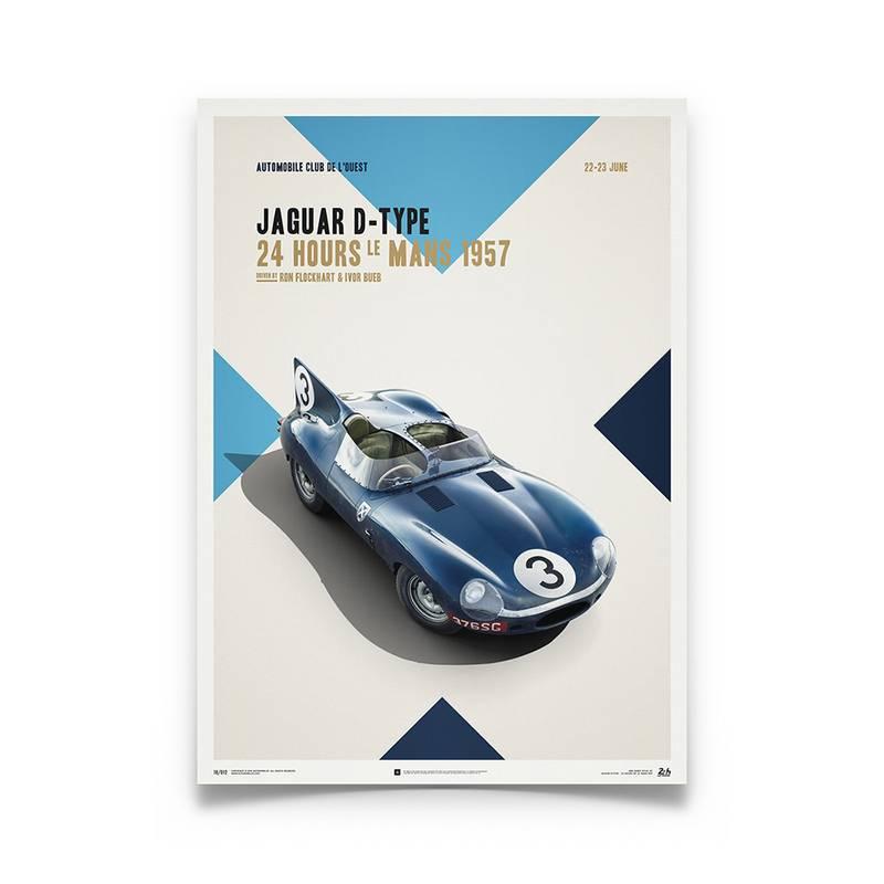 Product image for Jaguar D-Type - Le Mans - 1957  | Automobilist | poster