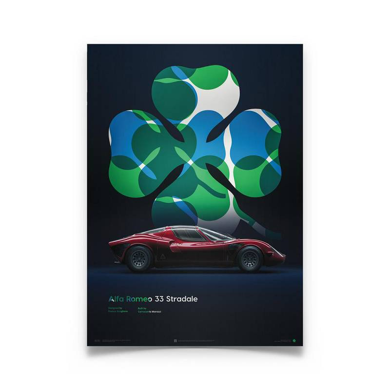 Product image for Alfa Romeo 33 Stradale – Clover – 1967 | Automobilist | poster