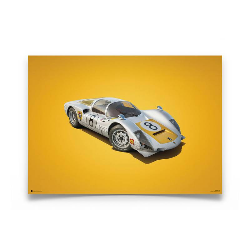 Product image for Colours of Speed | Porsche 906 – White – 1967 Japanese GP | Automobilist | Limited Edition poster
