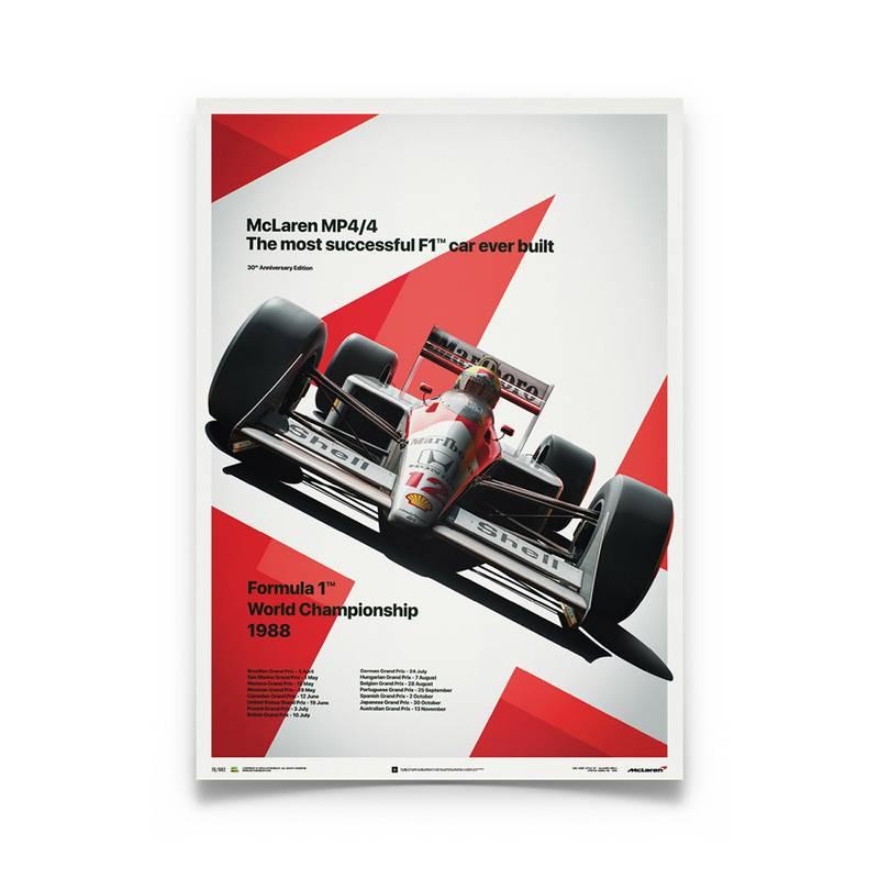 Product image for Ayrton Senna  –  McLaren MP4/4 – 1988 San Marino GP | Automobilist | poster #2