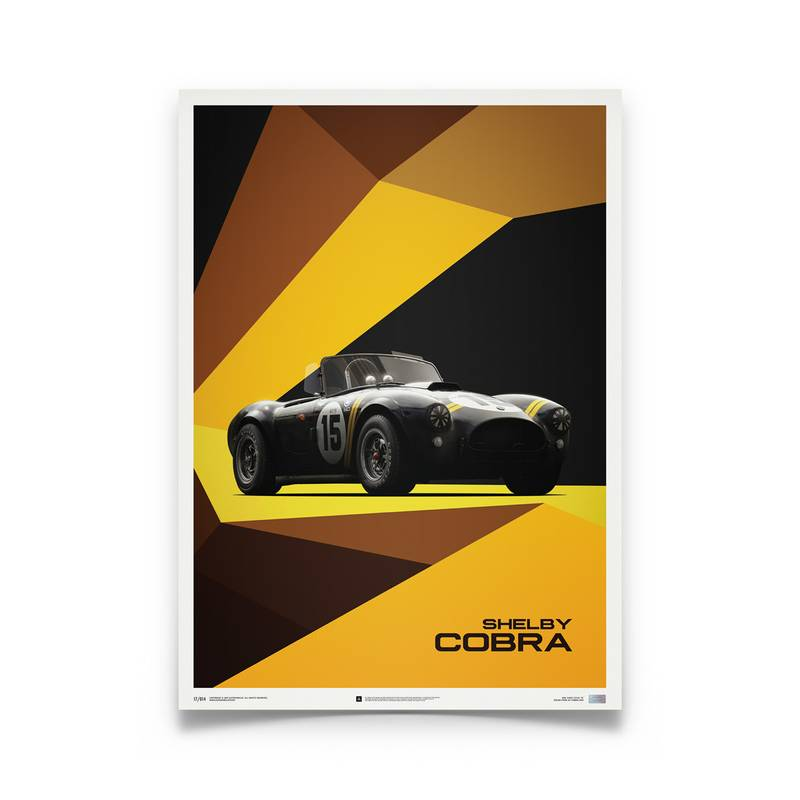 Product image for Shelby-Ford AC Cobra Mk II – Black – 1962 | Automobilist | Limited Edition poster