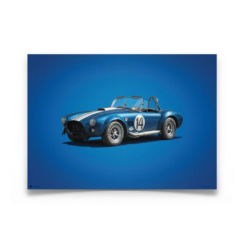 Product image for Shelby-Ford AC Cobra Mk II – Blue – 1965 | Automobilist | Limited Edition poster