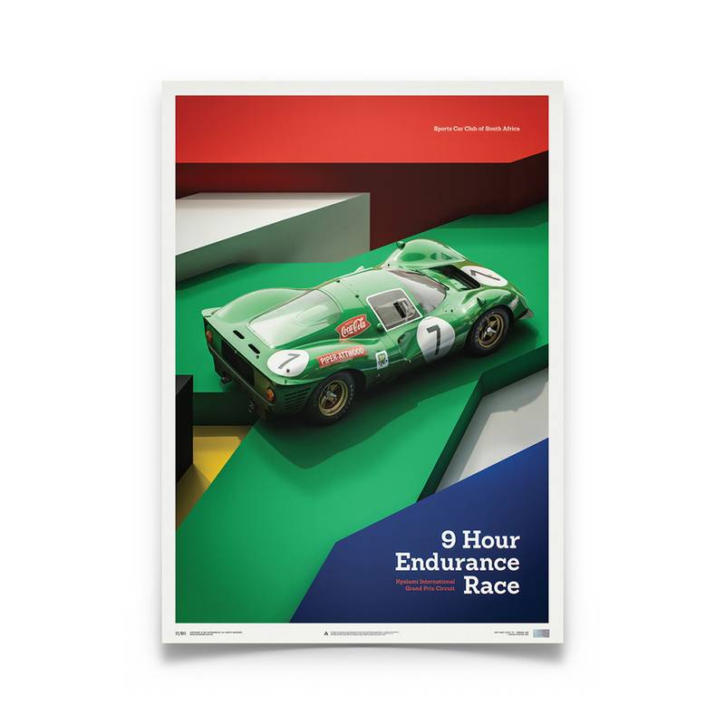 Product image for Ferrari 412P – Green – Kyalami 1967 | Automobilist | Limited Edition poster