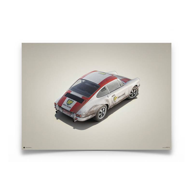 Product image for Colours of Speed | Porsche 911R – BP Racing – 1967 Monza | Automobilist | Limited Edition poster