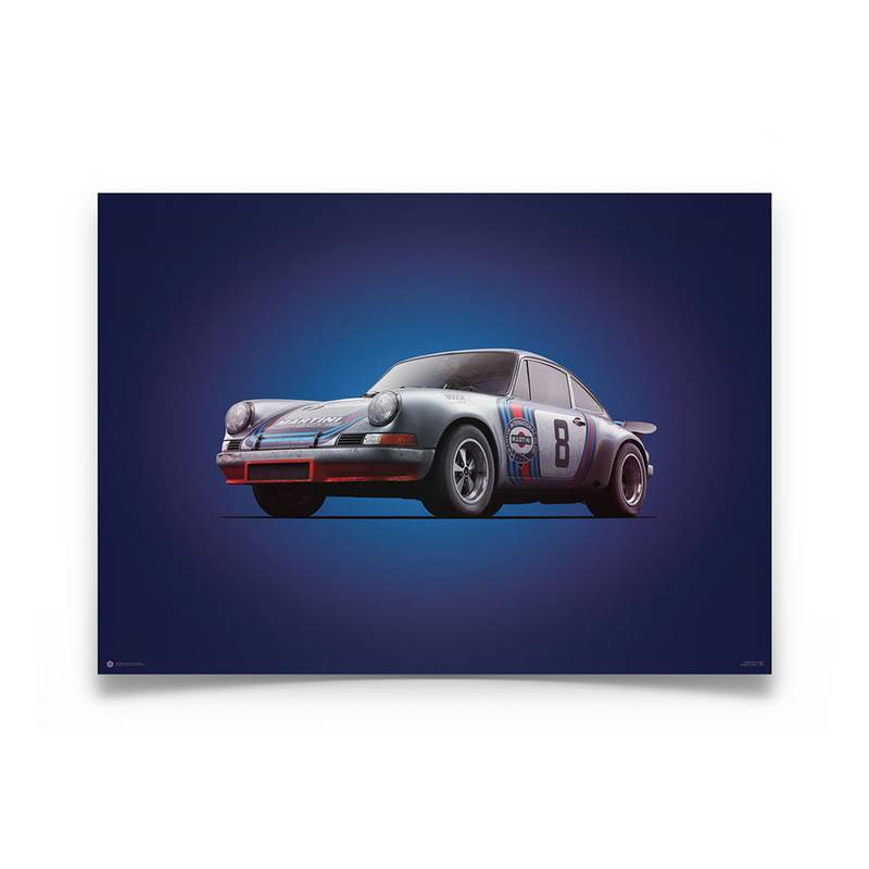 Product image for Colours of Speed | Porsche 911R – Martini – 1973 Targa Florio | Automobilist | Limited Edition poster