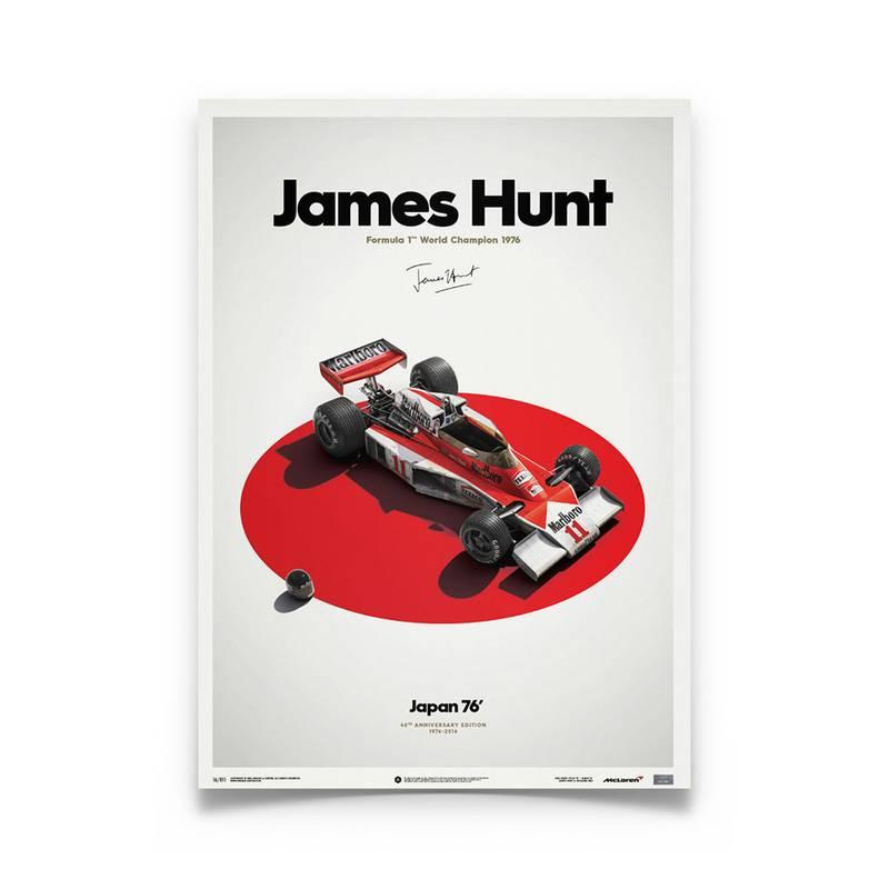 Product image for James Hunt – McLaren M23 – Japanese GP 1976 | Automobilist | Limited Edition poster