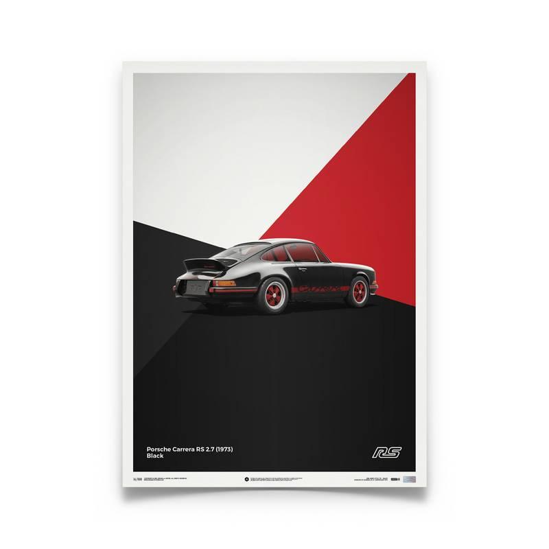 Product image for Porsche 911 RS – Black – 1973 | Automobilist | Limited Edition poster